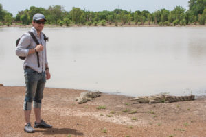 Hanging out with some Nile Crocodiles in West Africa.